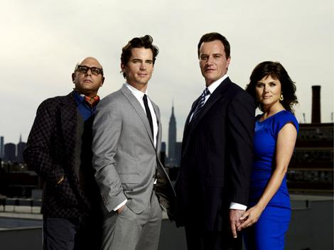 The two lead characters work together to solve white collar crimes,